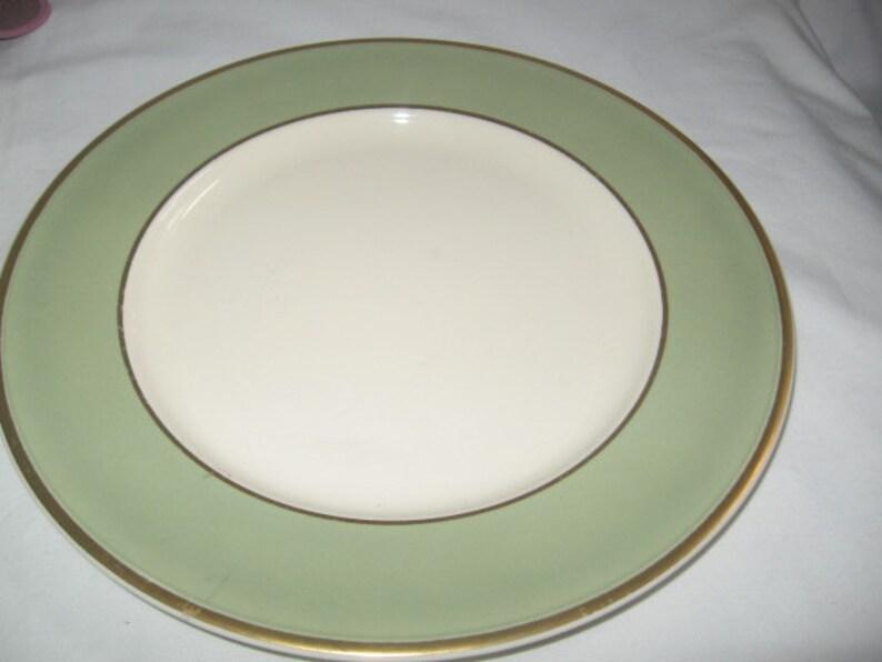 Mismatched China Taylor Smith Taylor Heritage Green Celadon PlatesGreen Depression Glass Salad PlatesEnglish Pink Transferware Plates