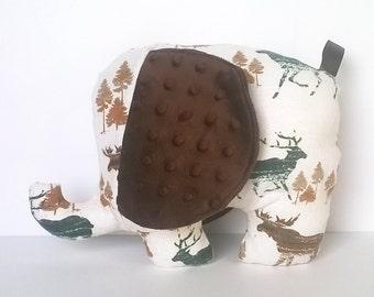 Morton the Elephant Plush, soft plushie, stuffed animal, handmade