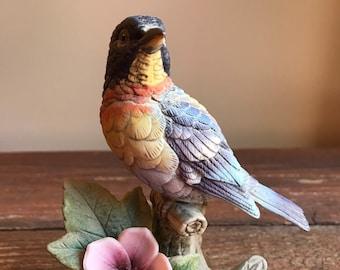 Vintage Parula Warbler bird figurine, Andrea by Sadak 8627
