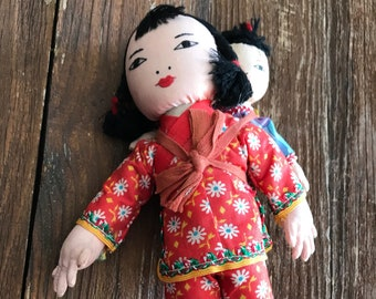 Vintage, handmade Chinese mother and child doll, Ada Lum or Ada Lum style, rare and collectible