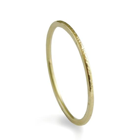 Infinity Gold Stacking Ring 14k Yellow Gold Minimalist Ring Etsy