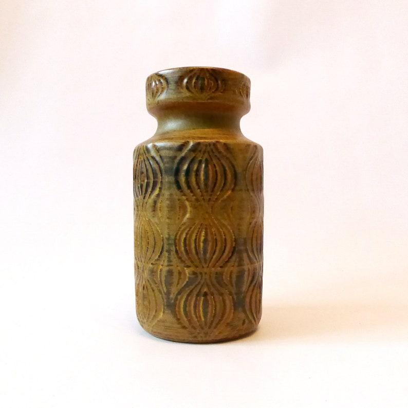 Scheurich 285-18 West German pottery vase Fat Lava era. image 0