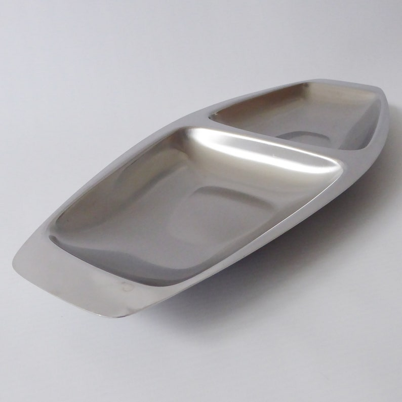 Vintage Alfra Alessi serving tray. 1960s 18/10 stainless image 0