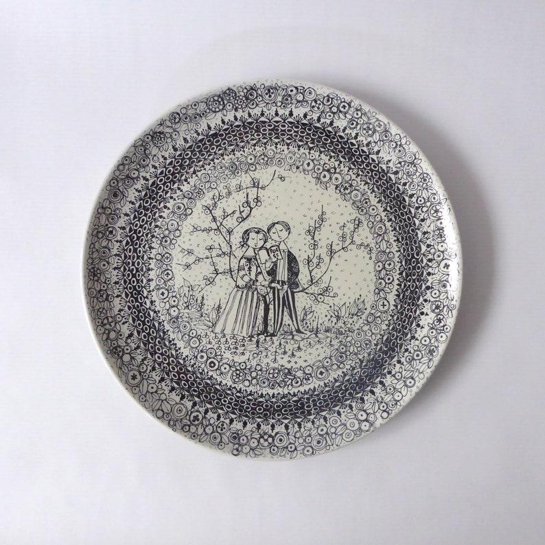 Bjorn Wiinblad for Nymolle Denmark. Vintage/retro plate. image 0