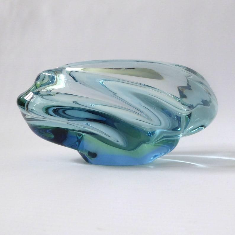 Skrdlovice Glassworks Andromeda art glass bowl/dish. Jan image 0