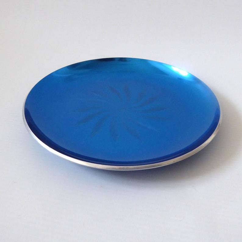 Vintage Elox Norway plate. Enamelled aluminium  starburst. image 0