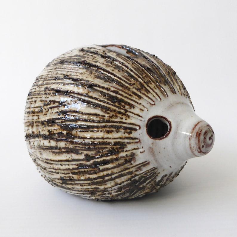 Briglin pottery hedgehog. Red clay handmade animal moneybox image 0