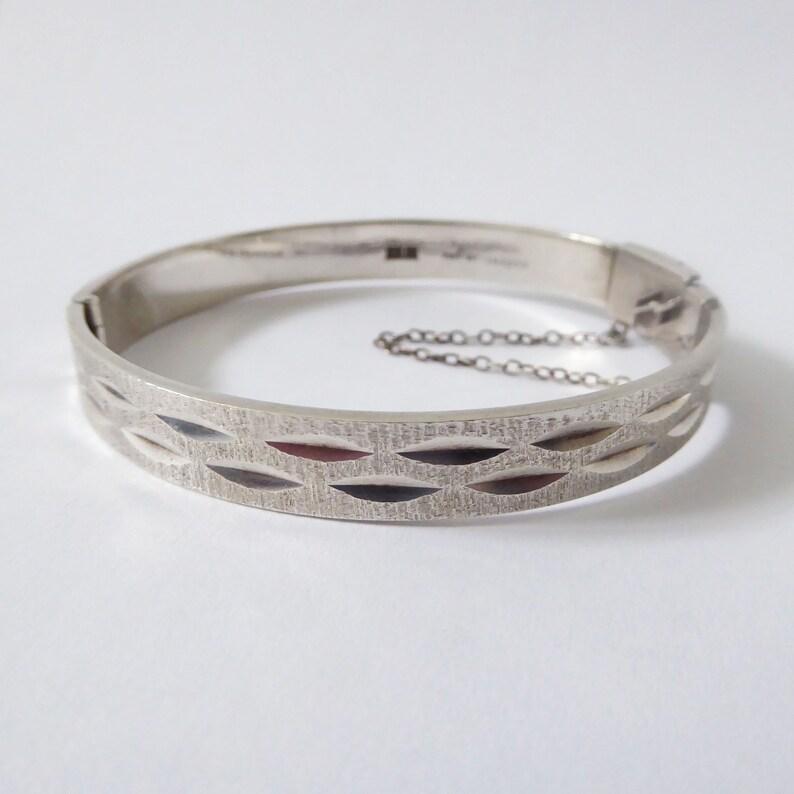 1974 Modernist Sterling silver bracelet/bangle. Retro 925 image 0
