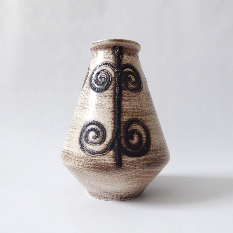 Vintage Ilkra Edel Keramik 1031/20 ceramic vase. West German image 0