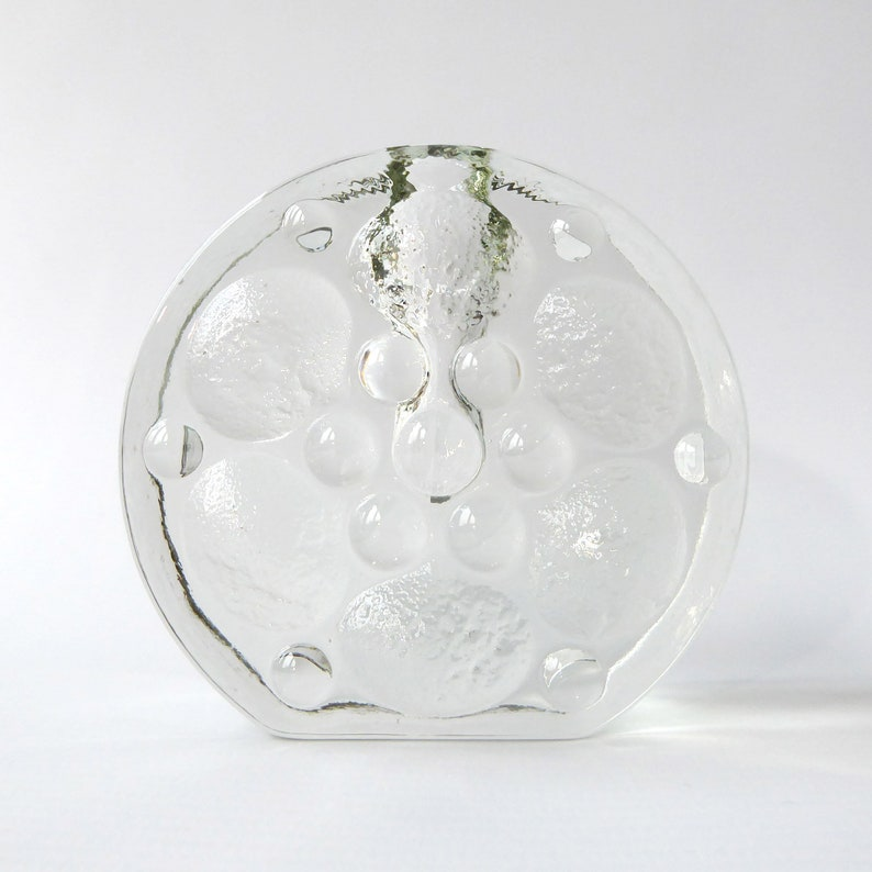 Walther Glas glass bud vase/solifleur vintage 1960s/70s. image 0