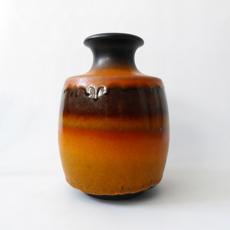 Carstens Tönnieshof 7061-20 West German pottery vase. Orange image 0