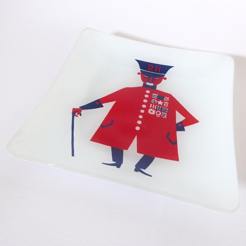 1970s Chance Glass Kenneth Townsend small plate Chelsea image 0
