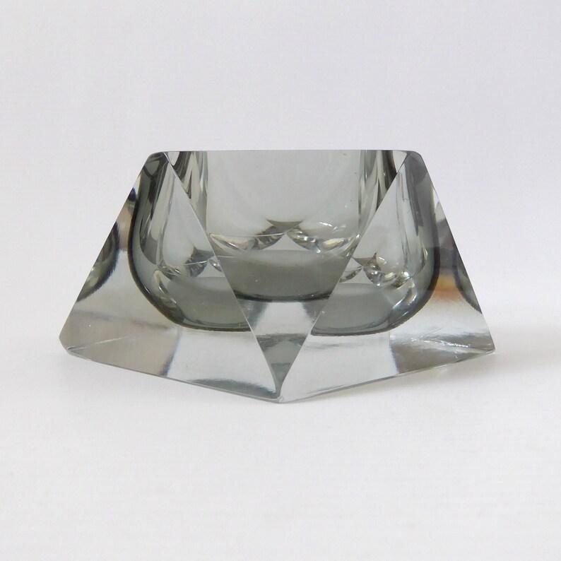 Murano Mandruzzato faceted bowl/dish/ashtray. Vintage retro image 0