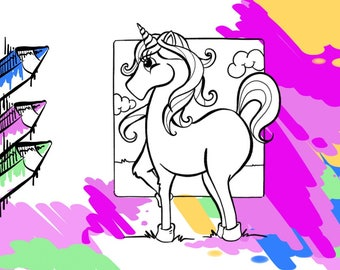 Unicorn Printable Coloring Page For Kids And Adult