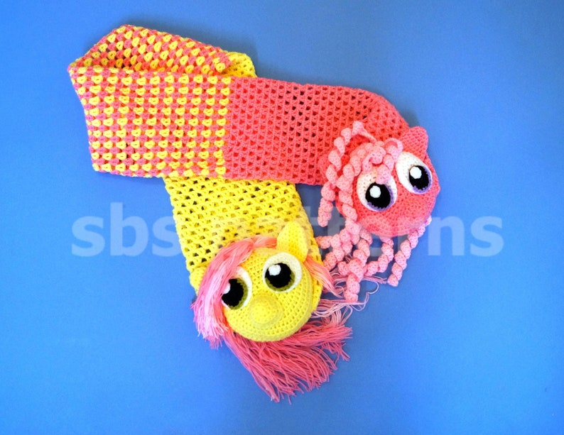 Crochet 3d Scarf Pattern Pdf My Little Pony Inspired Scarf Etsy