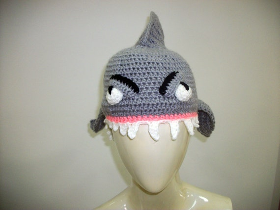 Shark Hat Crochet Pattern Pdf Halloween Costume Ideas Etsy