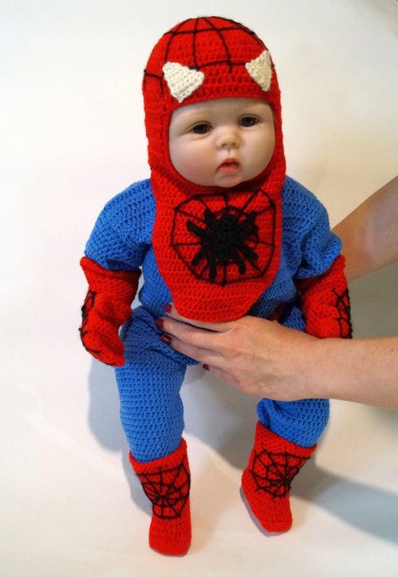 sc 1 st  Etsy & Infant Spider Man Crochet Costume PDF Pattern Spider Man