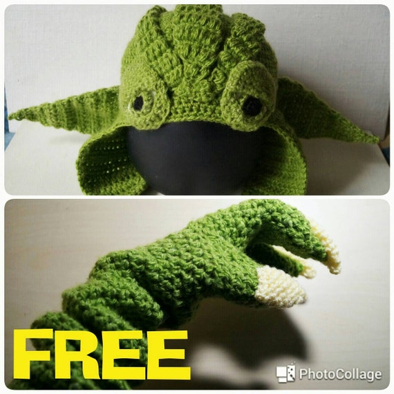 Yoda Hat Crochet Pattern Yoda Gloves Pattern Pdf Star Wars Etsy