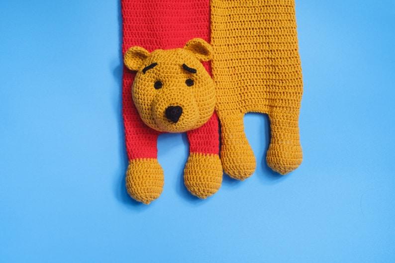 a1273f2bf3fd Animal Scarf Winnie-the-Pooh Winnie the Pooh Scarf Crochet