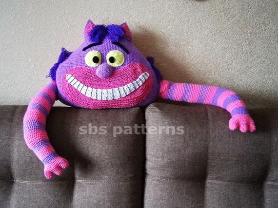 Crochet pattern cat pillow kitty cushion black cat tutorial | Etsy | 427x570
