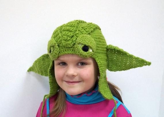 Crochet Pattern Baby Yoda Crochet Hat Master Yoda Jedi Hat Etsy