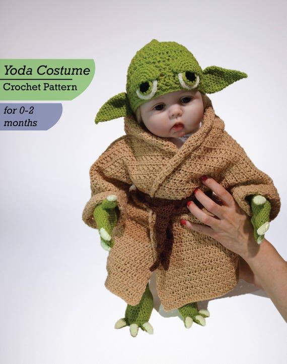 Infant Yoda Crochet Costume Pattern Pdf Star Wars Baby Etsy
