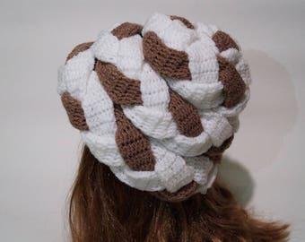 Chunky Hat Crochet Pattern PDF - Woman Hat - Girl Hat - Winter Hat - Warm Hat