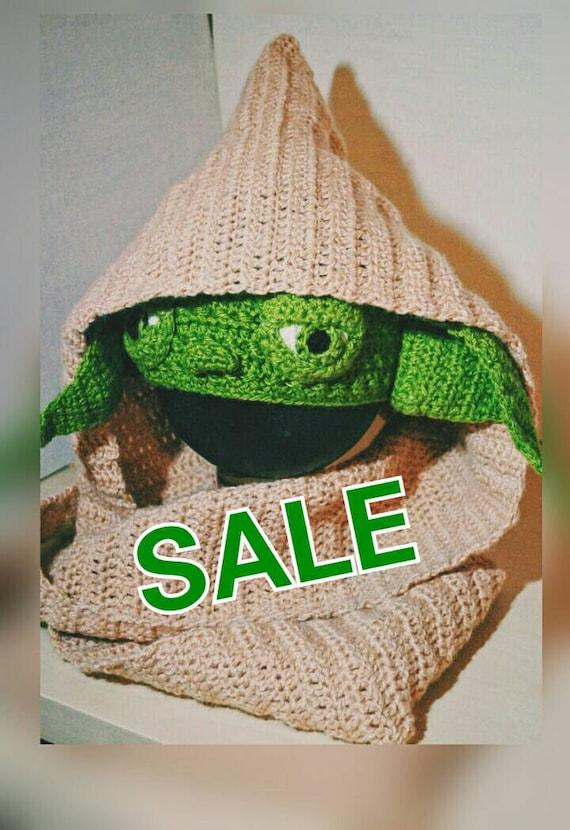Yoda Crochet Pattern Pdf Star Wars Costume Hooded Scarf Etsy