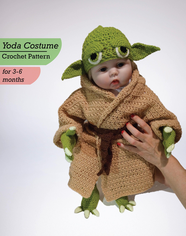 Baby Yoda Costume Crochet PDF Pattern Baby Star Wars Costume