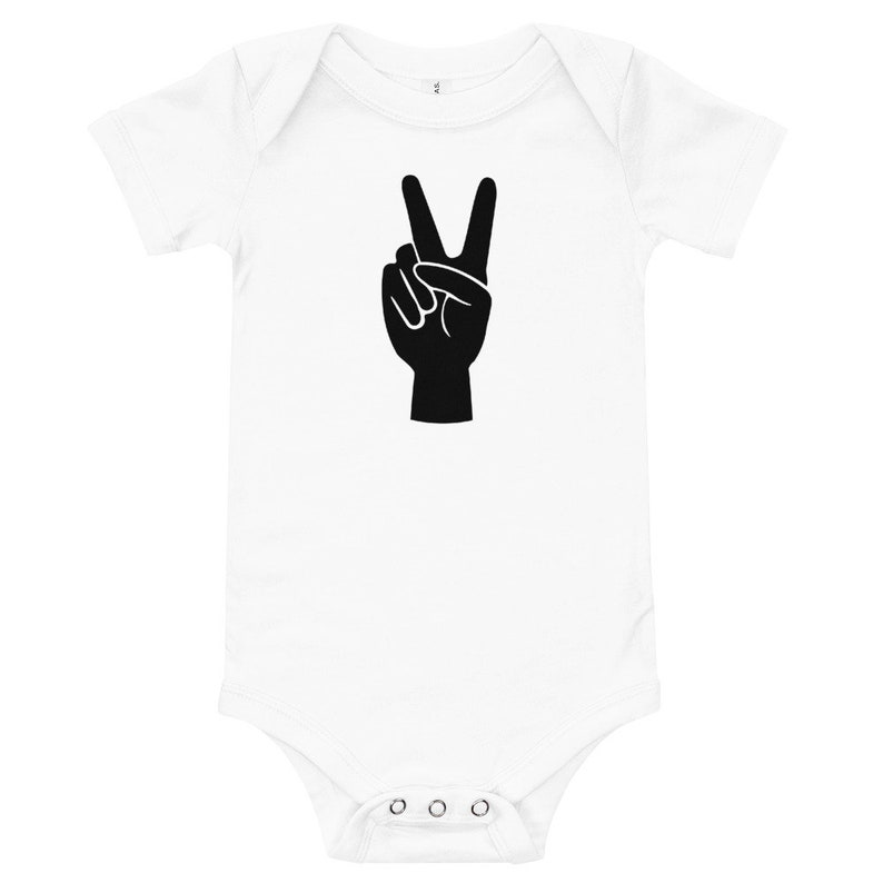Peace Baby Onesie Black And White \u2022 Baby Gift x Boy Girl Clothing \u2022 Minimal Graphic Tee \u2022 Onesie