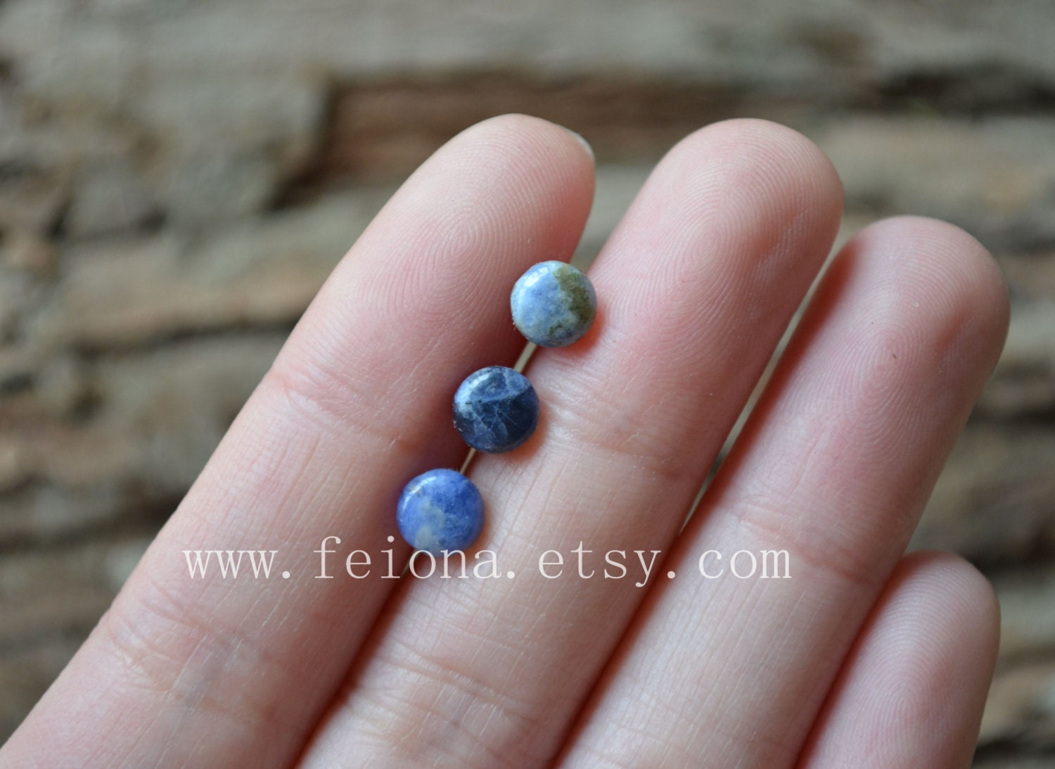 4b2cb8eb35ff2 Nature blue 6 MM lapis cartilage barbell Upper Ear Ring piercing , barbell  cartilage Earring Tragus Helix Piercing ,Cartilage jewelry