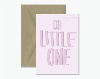 Oh Little One Pink | Baby Card