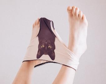 Experienced fighter - black cat underwear
