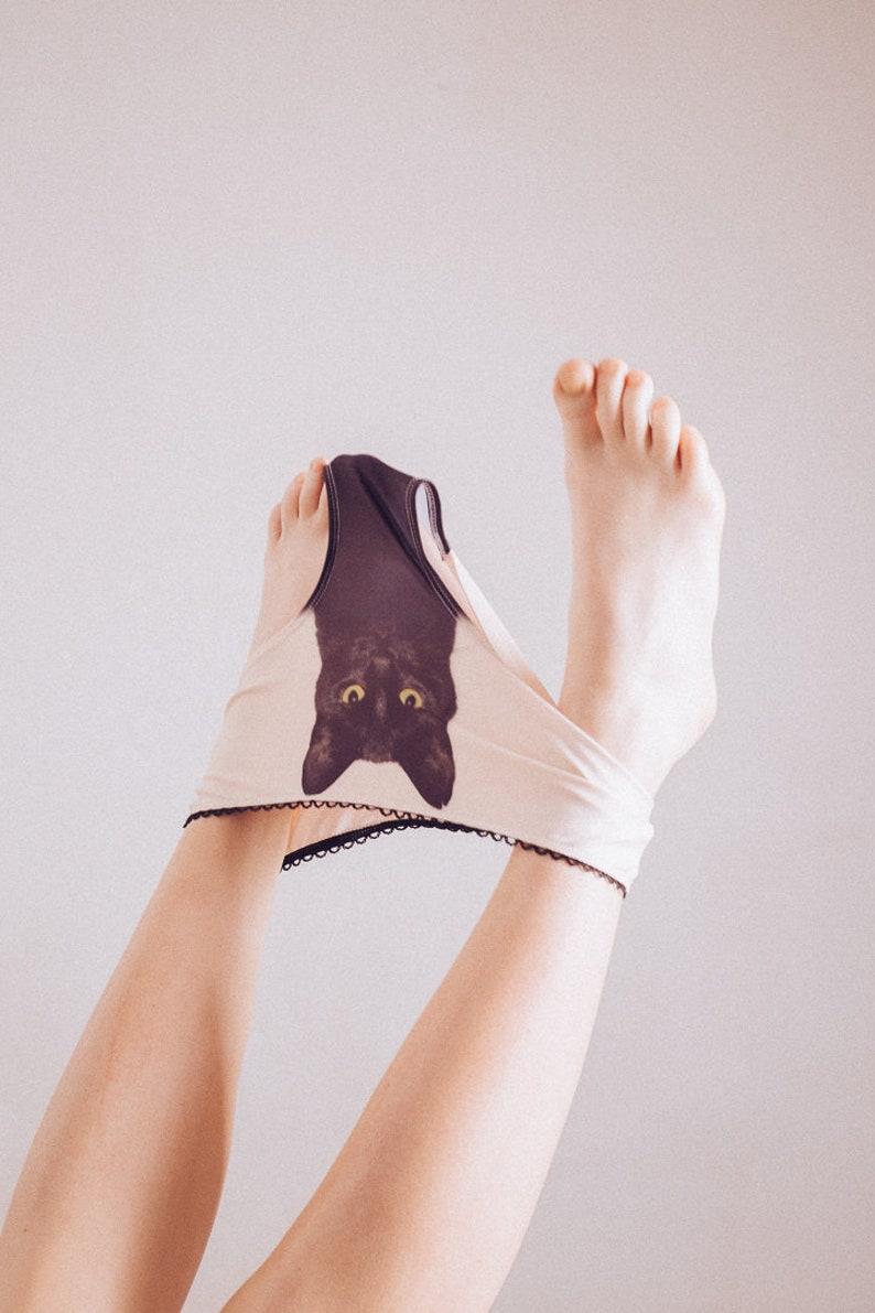 Experienced fighter  black cat underwear image 0