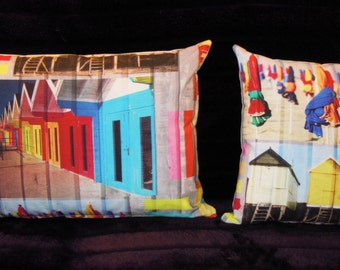 "CUSHION model ""Sunset Beach cabins"" size 60X40cm"