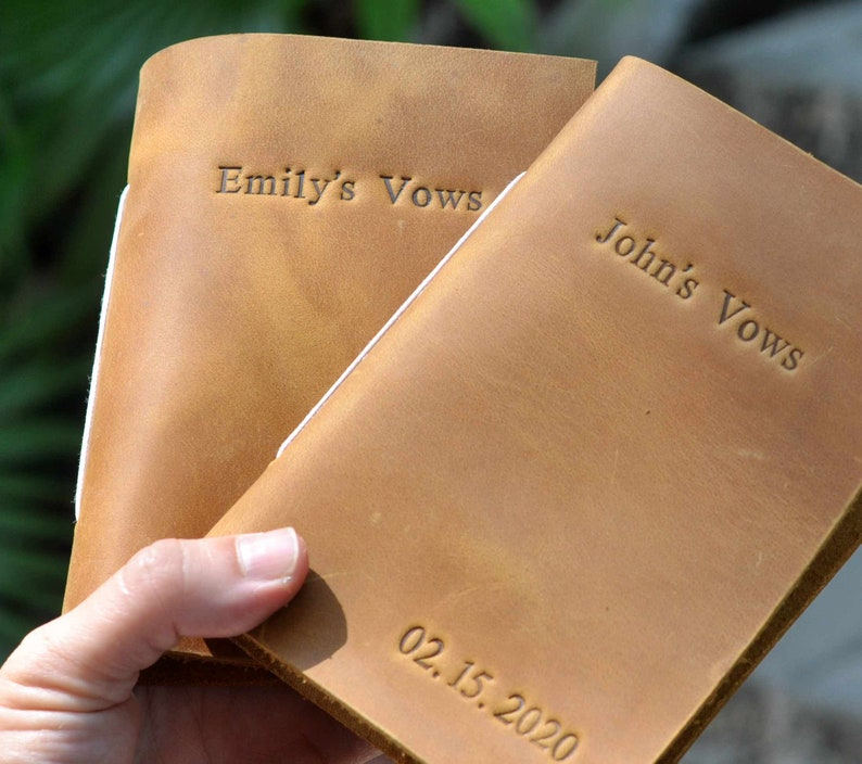 Wedding Vows Personalzied Rustic Vow Books Marriage Vow Books