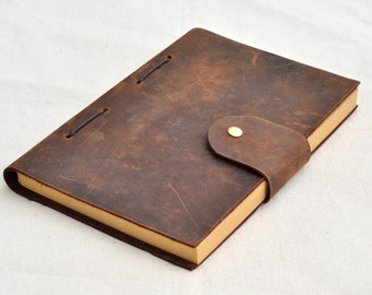 Personalized Leather Journal leather sketchbook diary  (Free  stamp)