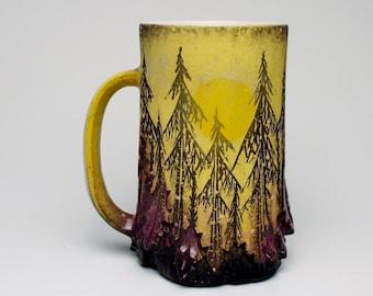 Yellow and Violet Sunset Mug