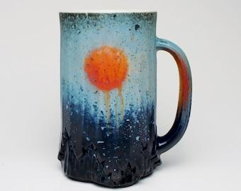Blue and Orange Sunset Mug