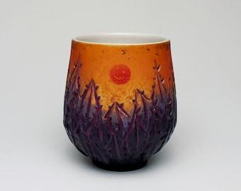 Orange, Violet, and Purple Sunset Yunomi