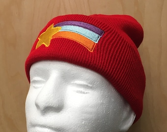 8e61a1fcaeb Mabel Pines Beanie Hat Shooting Star Knit Cap Halloween Costume Cosplay Winter  Rainbow Mable Pines TV Show Cartoon Prop Women s Gift Idea