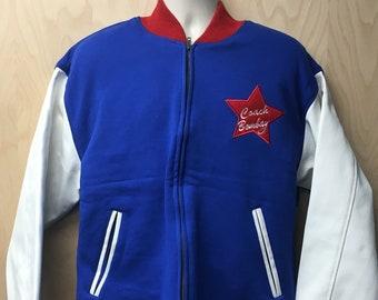 f3fa4d38f Coach Bombay Jacket Team USA Gordon Bombay Coat Halloween Costume Olympics  Olympic Hockey Movie Letterman Varsity U.S.A. Men's 90s Gift Idea