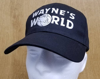 Wayne's World Hat Wayne Campbell Baseball Cap Halloween Costume Best Quality TV Show Skit Movie Cosplay 90s Embroidery Gift Idea