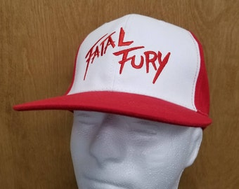 Fatal Fury Hat Terry Bogard Baseball Cap Halloween Costume Best Quality  Cosplay Trucker Video Game 90s Gamer Embroidery Adult Mens Gift Idea 7372f6a0ef9b