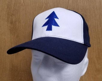 a21fdeb68fe Dipper Pines Hat Baseball Cap Best Quality Halloween Costume Cosplay Pine  Tree TV Show Cartoon Embroidery Gift Idea
