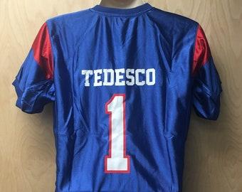 Harmon Tedesco Football Jersey Mountain Goats Uniform Halloween Costume  Shirt TV Show State Team Player  1 1 Blue And White Kicker Gift Idea f36007688