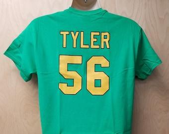 ed53bfd1f Ducks Russ Tyler T-Shirt Jersey Uniform Halloween Costume Tee Shirt Hockey  Movie Team Player 56 D2 Russel Knuckle Puck Men s 90s Gift Idea
