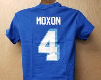 West Canaan Coyotes Jonathan Moxon T-Shirt Jersey Uniform Halloween Costume  Tee Shirt Football Movie Team Player Quarterback Mox 4 Gift Idea 1c659de88e