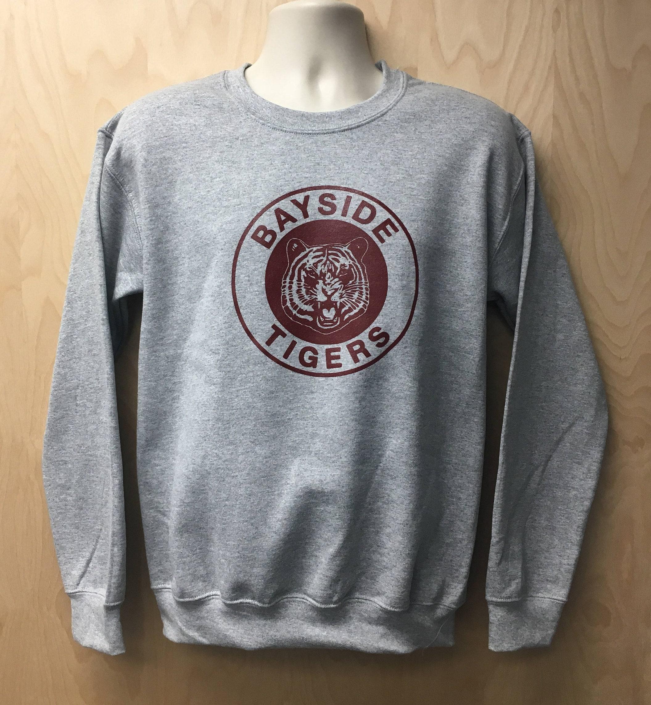 Bayside Tigers Logo Sweatshirt TV Show Zack Morris AC Slater | Etsy
