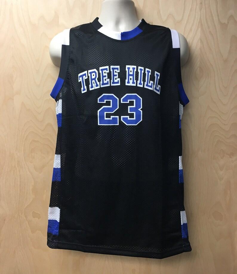 Tree Hill Nathan Scott Black Basketball Jersey Uniform  5da5572b2